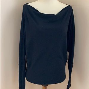 "Free People Black Sweater ""We The Free"""